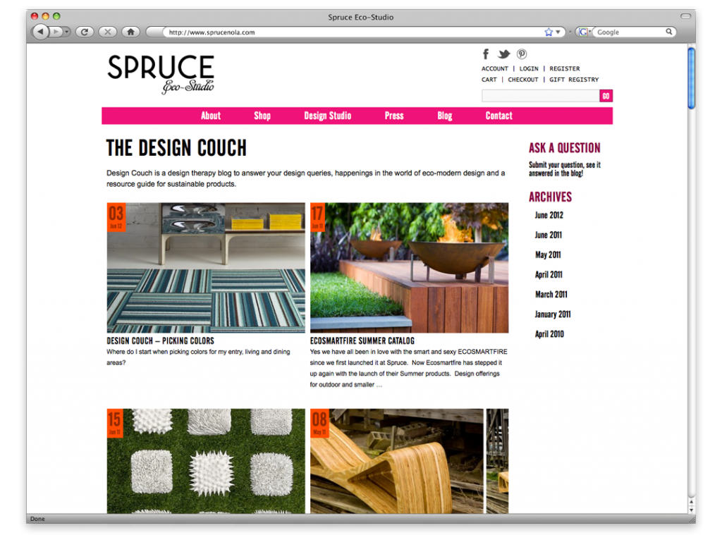 New Orleans Website Design and Development - Spruce Website