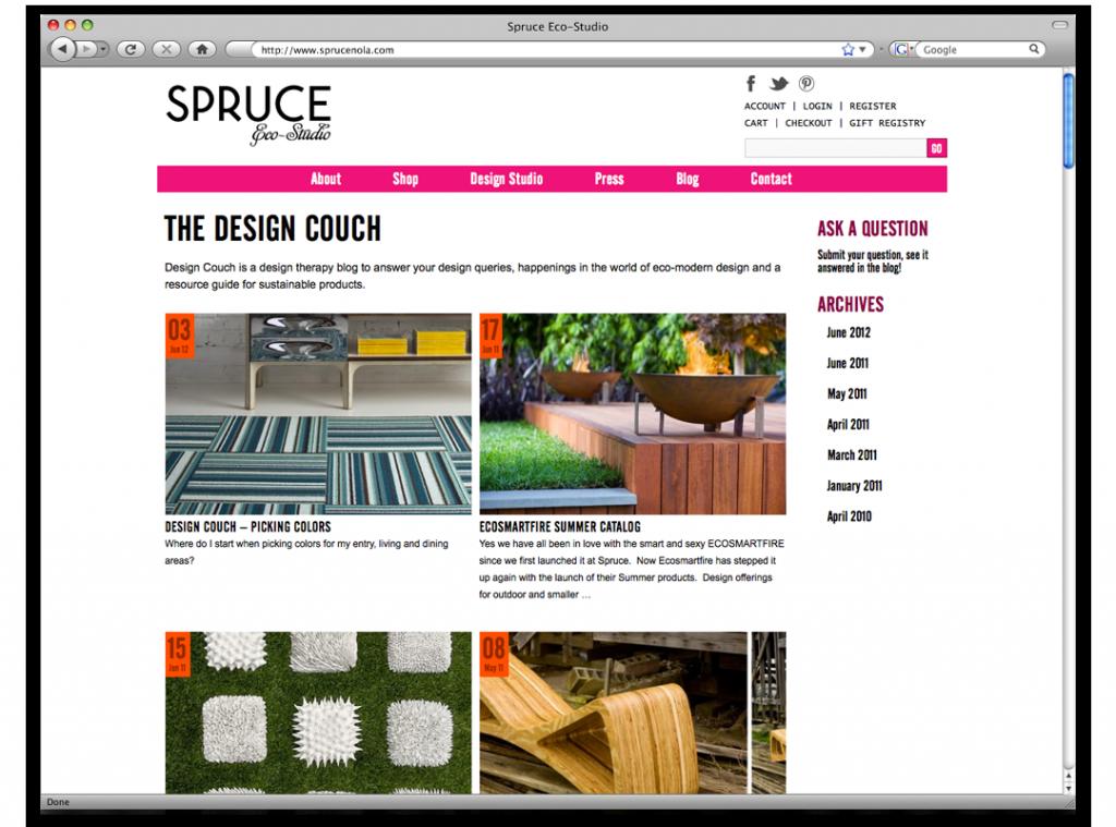 New Orleans Website Design and Development - Spruce Website