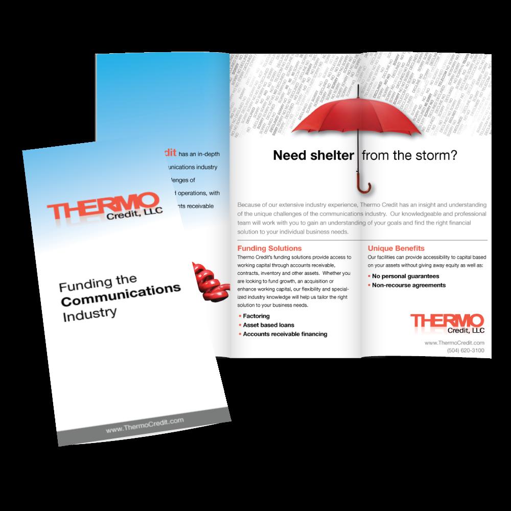 Thermo Credit Trifold Design - Marketing Collateral Design