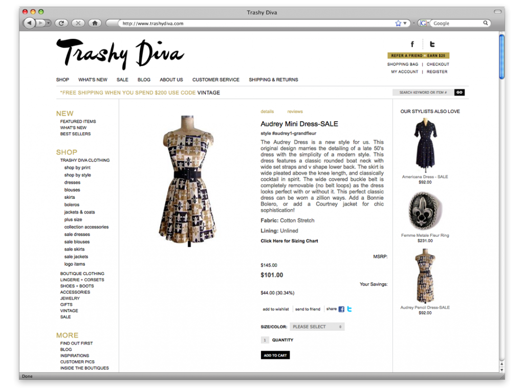 New Orleans Website Development and Design - Trashy Diva