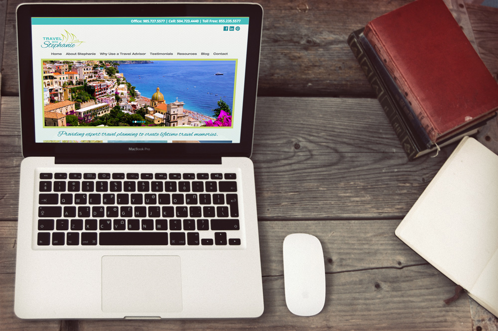New Orleans Website Design and Development - Travel with Stephanie Website