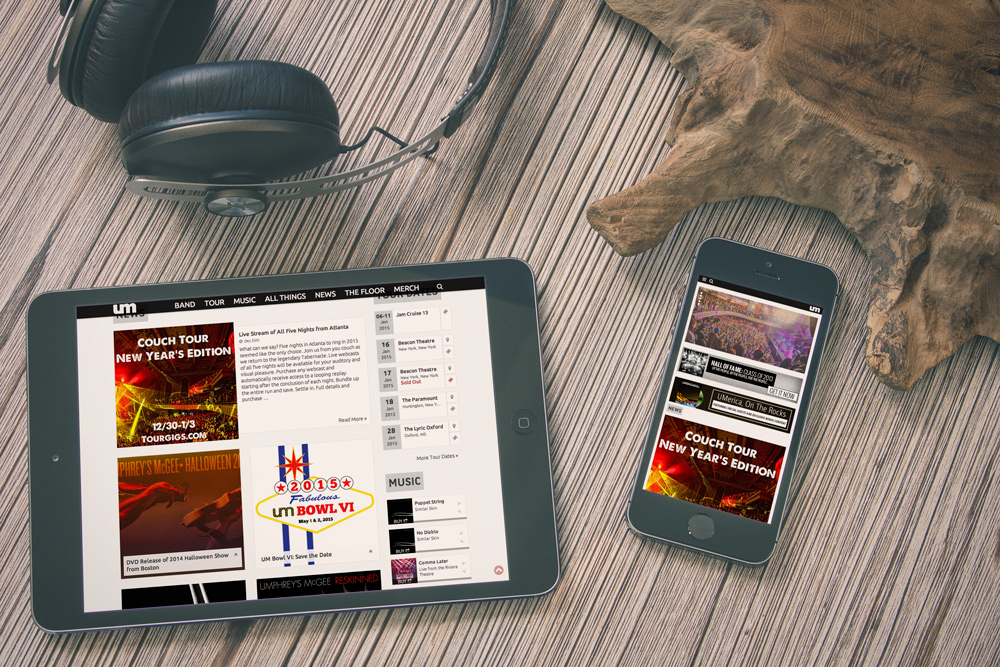 New Orleans Mobile Website Development and Design - Umphrey's McGee Website