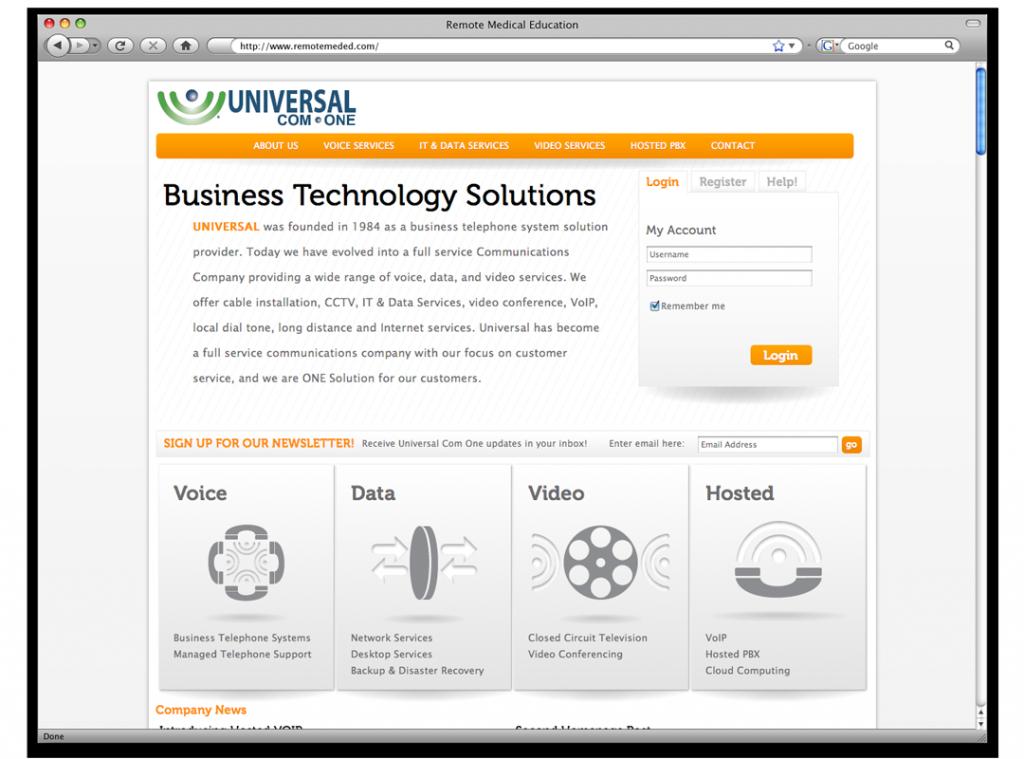 New Orleans Website Development and Design - Universal Com One