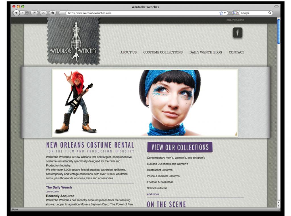 New Orleans Website Design and Development - Wardrobe Wenches Website