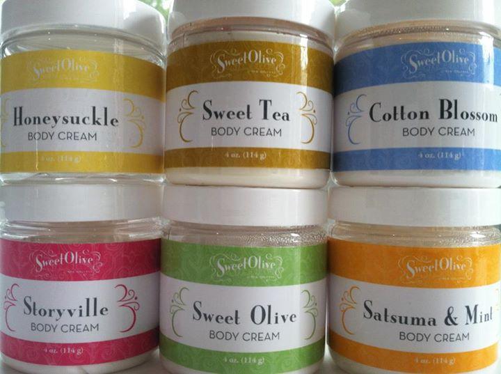 Various Sweet Olive Soap Works Body Creams - Packaging Design