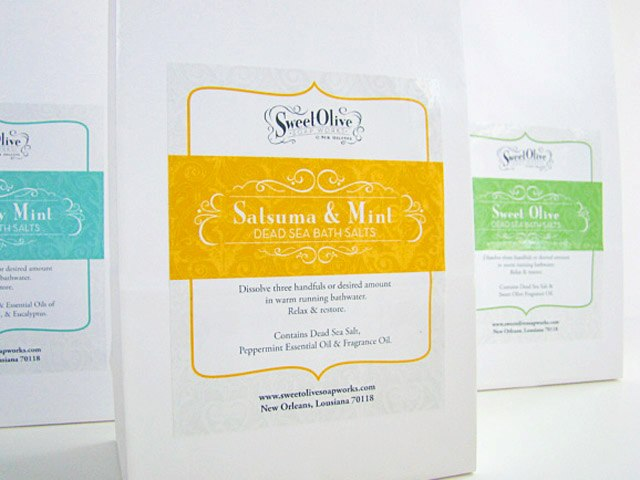 Sweet Olive Soap Works Body Salts - Packaging Design