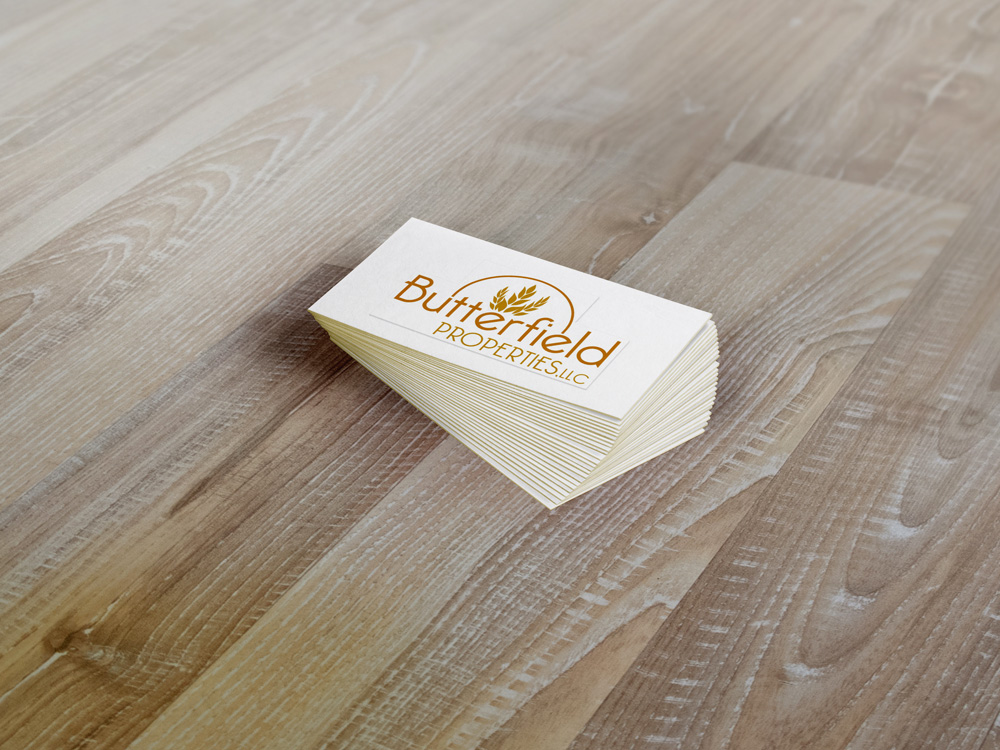 Business Card Designs - Butterfield Properties Logo Design New Orleans