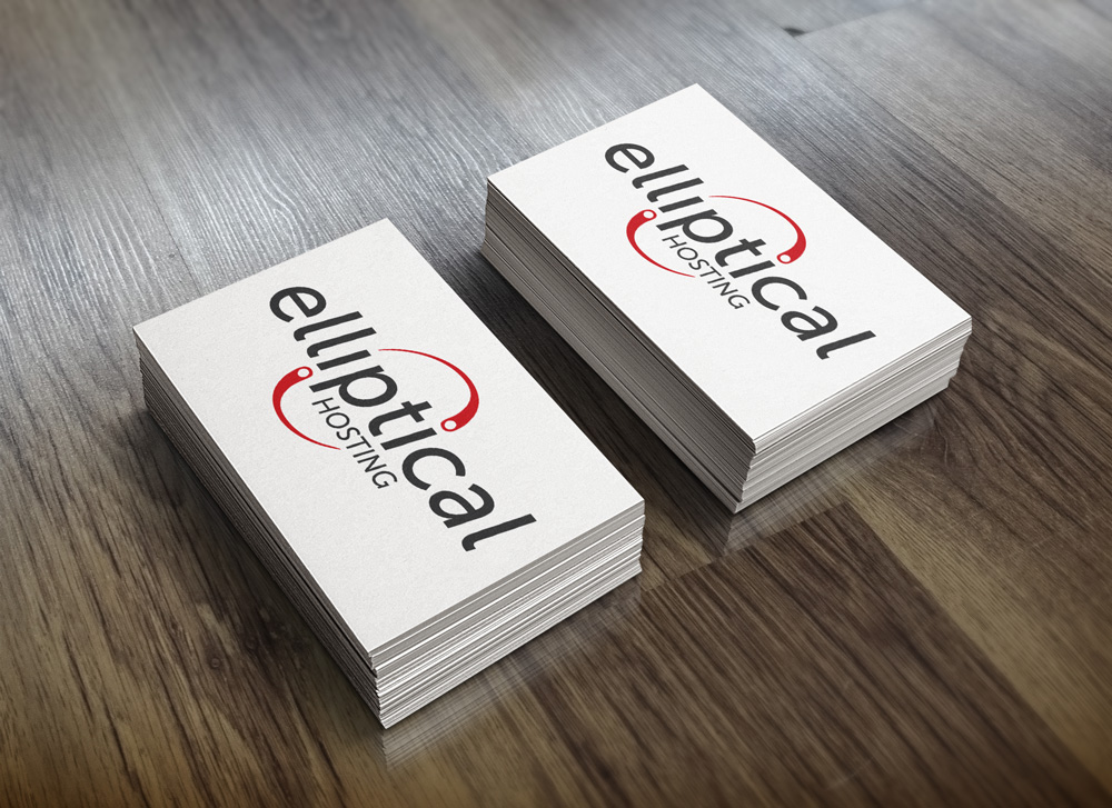 New Orleans Identity and Logo Design - Elliptical Hosting Business Cards