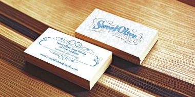 Identity and Logo Design - Sweet Olive Business Cards