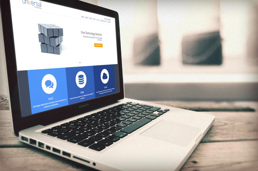 website design and development - universal com one