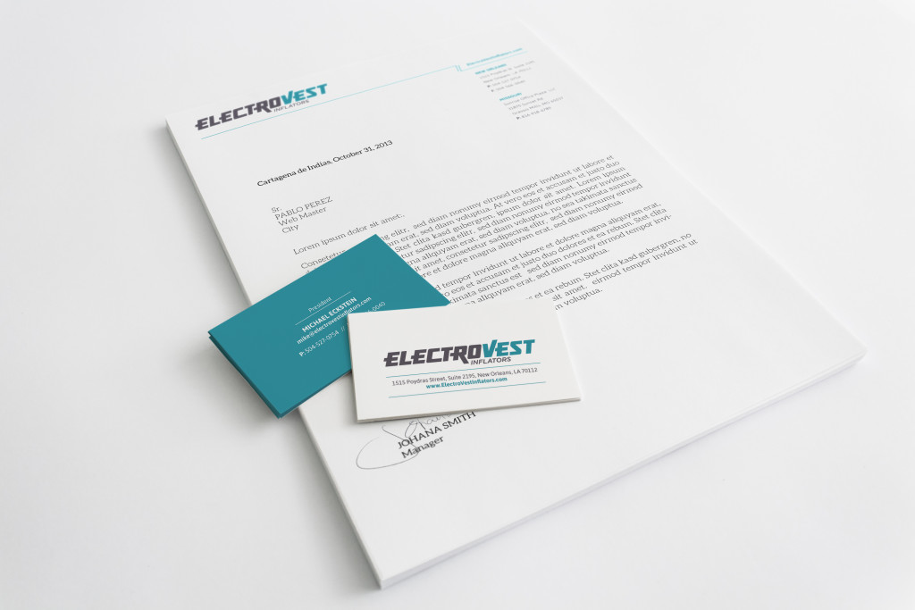 Letterhead Business Card Marketing Collateral Design