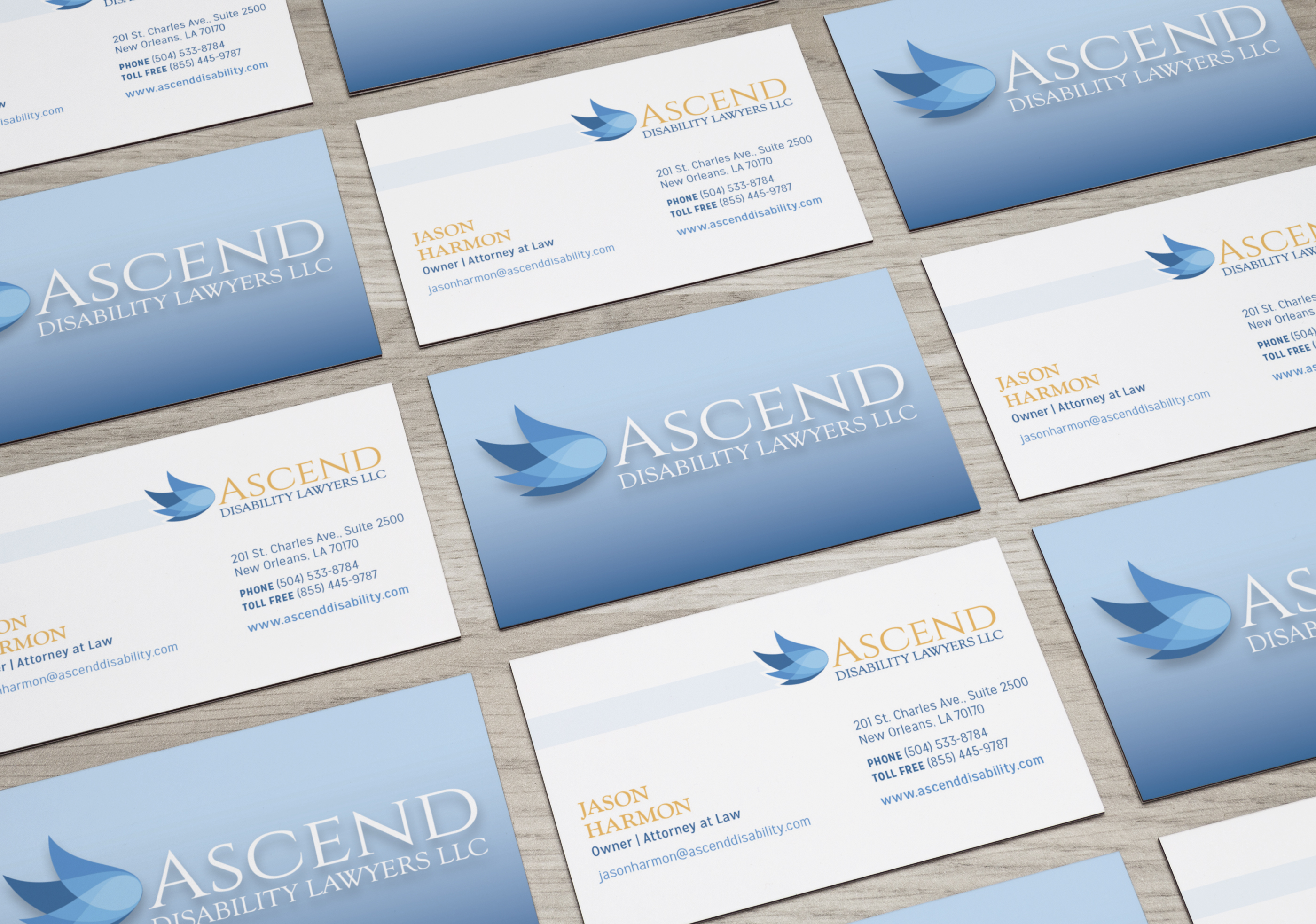 Custom graphic designs business cards design good work marketing ascend business card design new orleans graphic design colourmoves