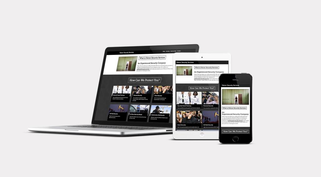 Falcon Security Website Development