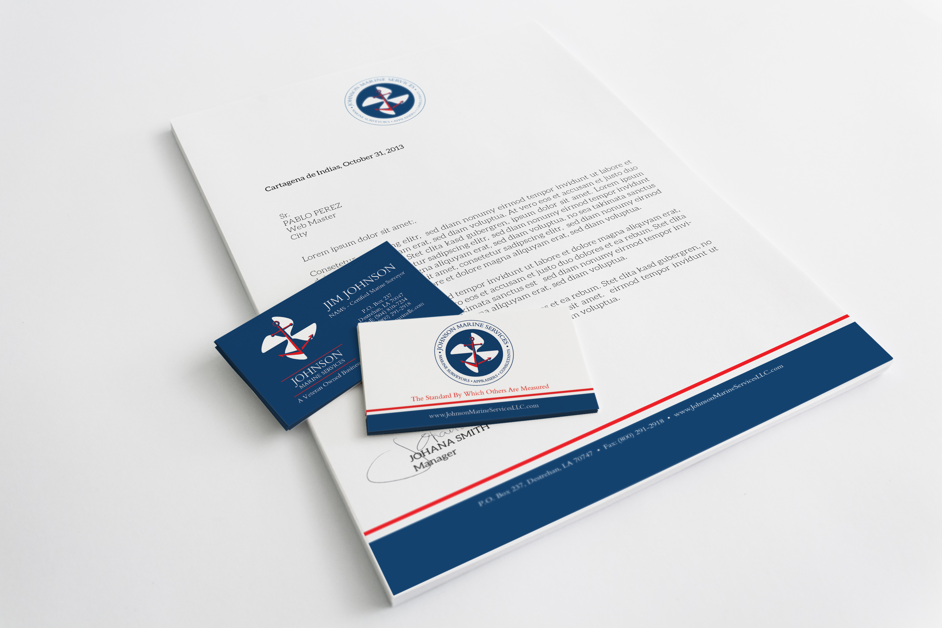 Identity logo design archives good work marketing johnson marine services logo and marketing collateral design magicingreecefo Gallery