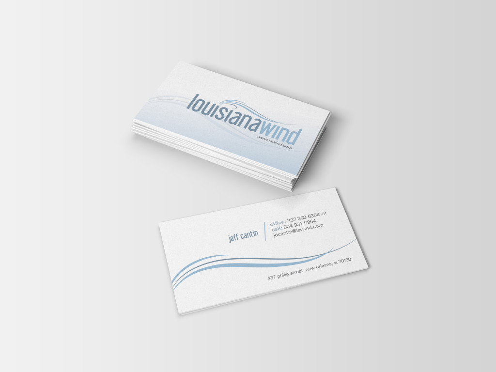 Business Card Designs New Orleans - LA Wind