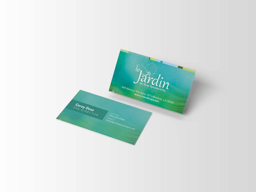 Business Card Designs - New Orleans - Le Jardin