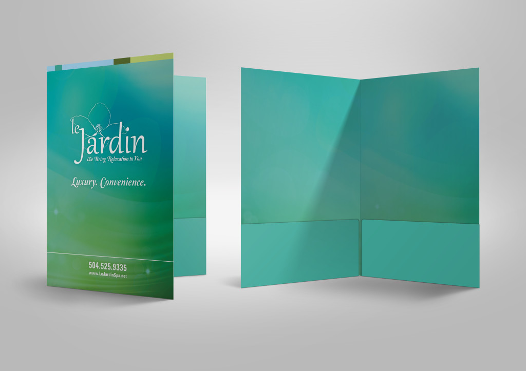 Custom Marketing Collateral - Folder Design Le Jardin 1