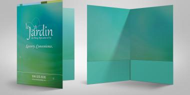Custom Marketing Collateral - Folder Design Le Jardin 1