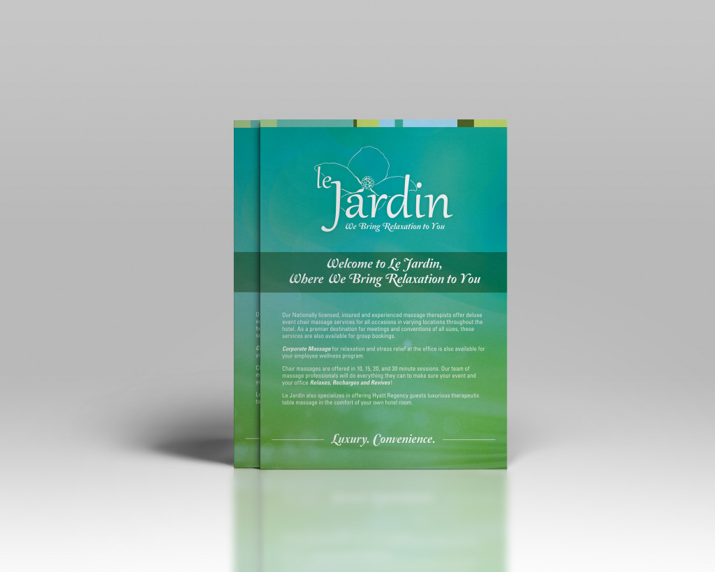 Custom Marketing Collateral - Sales Sheet Design - Le Jardin