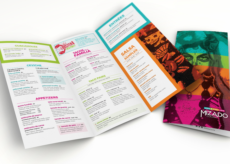 Creative Restaurant Menus - Mizado - Menu Redesign