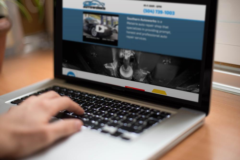 Custom Web Development - Southern Autoworks Website 2