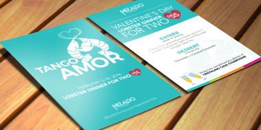 Mizado Restaurant's Valentine's Day concept and creative by Good Work Marketing.