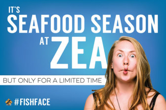 Zea Seafood Season advertisement.