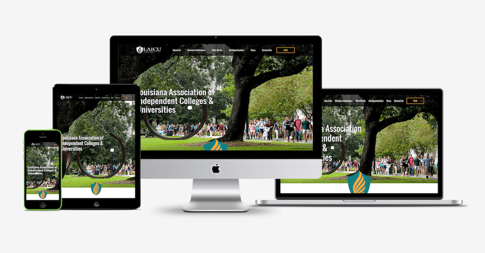 LAICU website showcase - Good Work Marketing