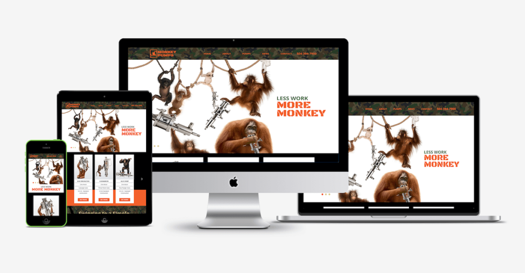 Monkey Pumps website shocase - Good Work Marketing