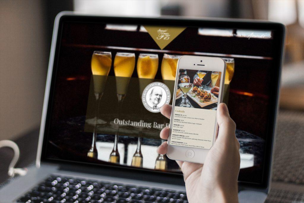 Arnaud's French75 Bar Website Design and Development