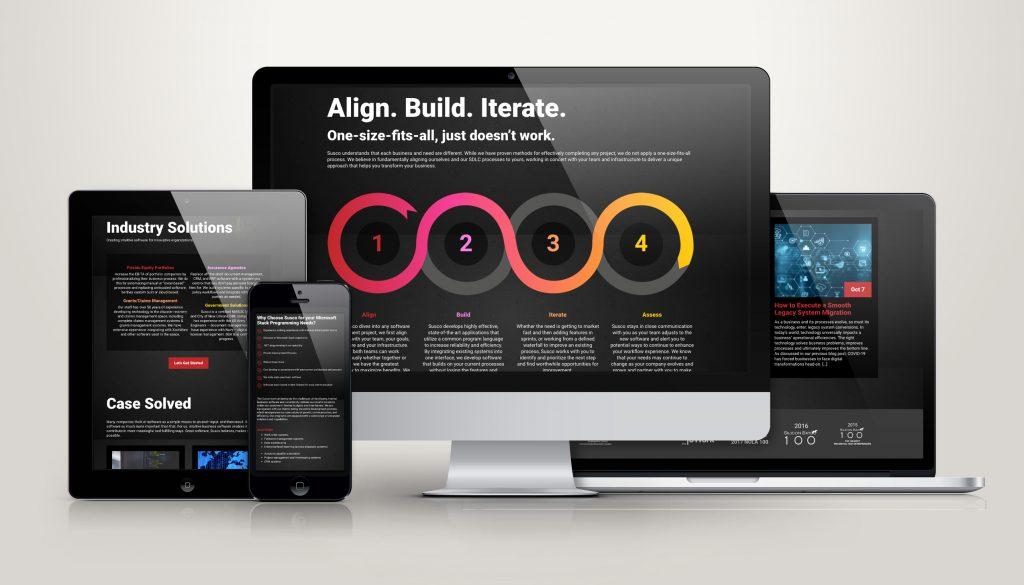 Susco website design and development