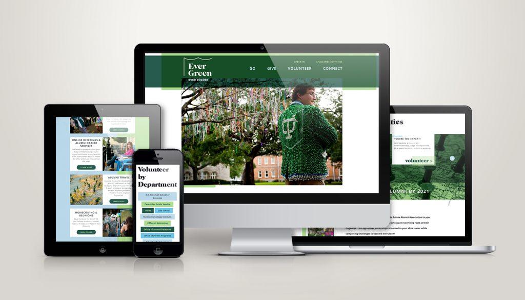 TU Evergreen Alumni website design and development