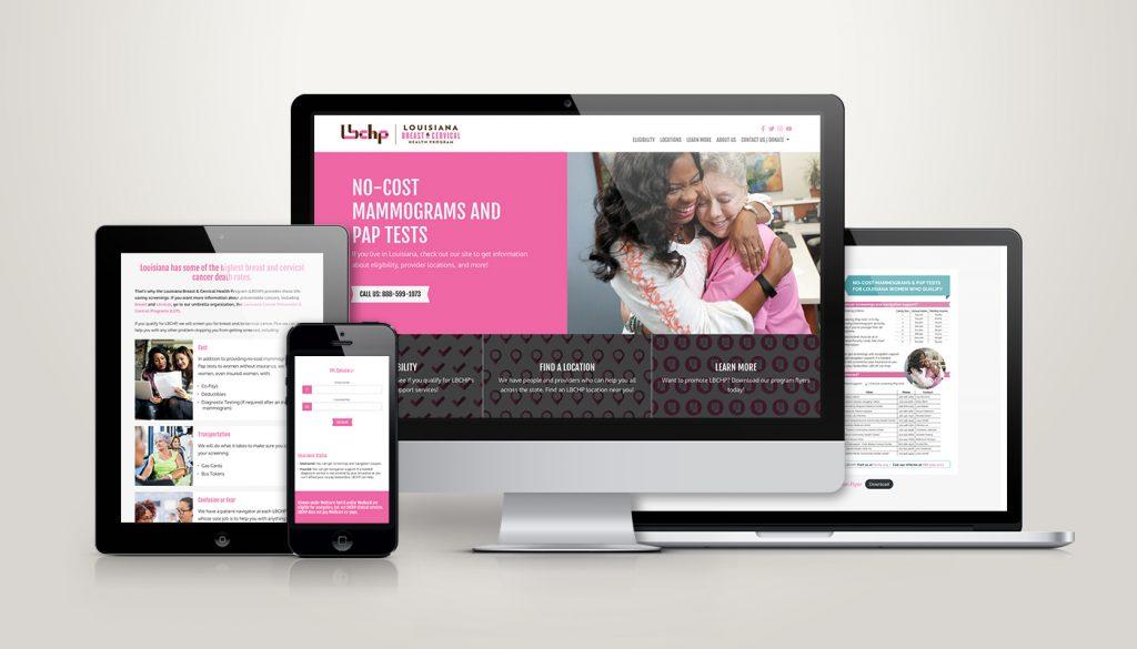 LBCHP website design and development