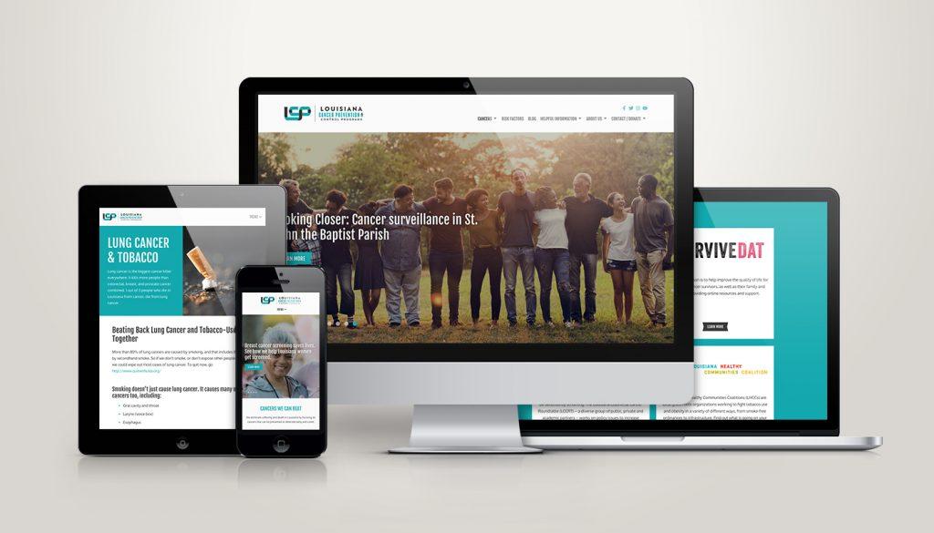 Louisiana Cancer Prevention Website Design and Development